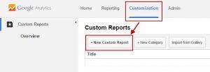 GA add custom report