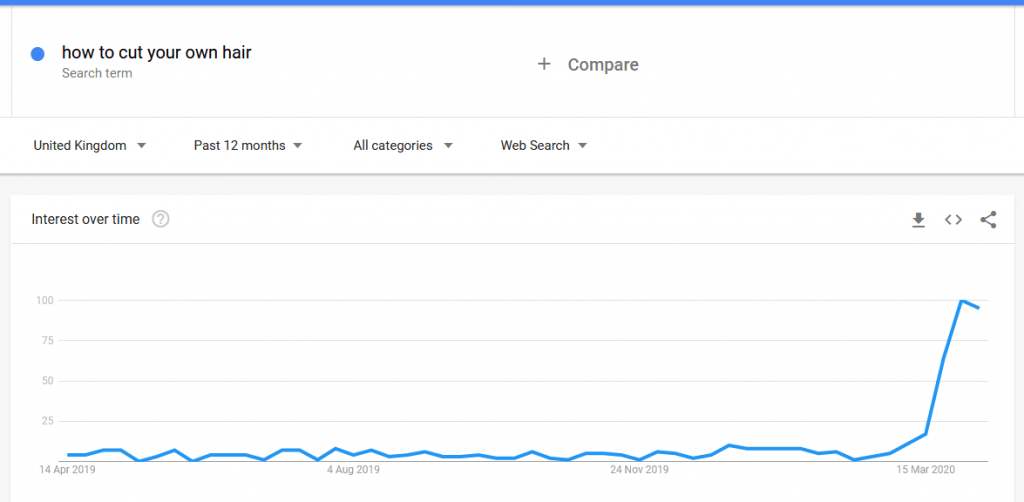 How to cut your own hair - Google search Google trends