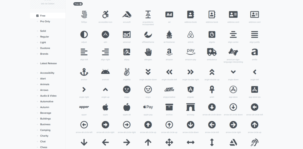 Icons from Font Awesome